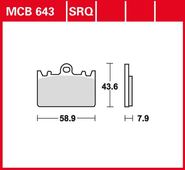 Bremsbelag TRW MCB643SRQ Sinter Rennsportbelag