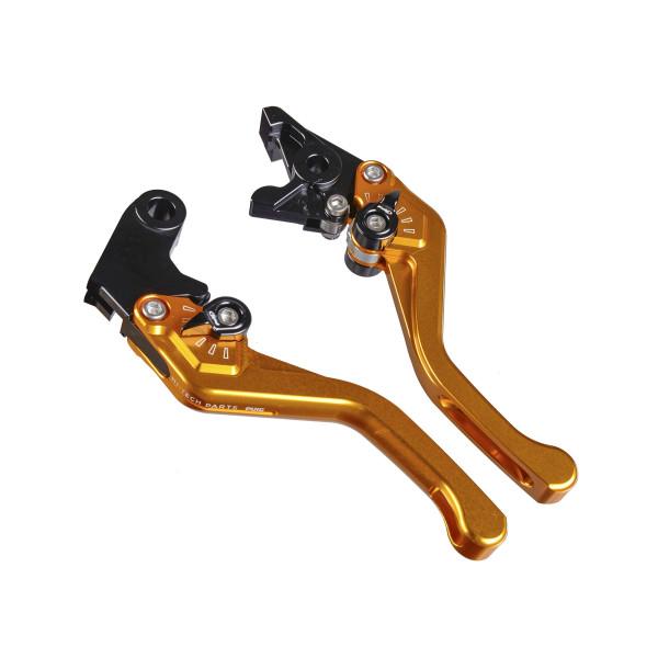 Bremshebel + Kupplungshebel Set v3 kurz gold für Kymco Superdink 300 V20 2013