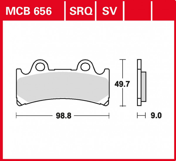 Bremsbelag TRW MCB656 organischer Allround-Bremsbelag