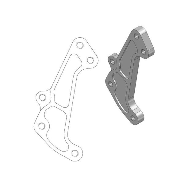 Bremssattel-Adapter Moto-Master 211065 Supermoto Racing Adapter 320 mm Ø