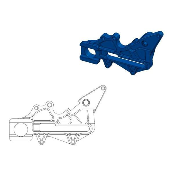 Bremssattel-Adapter Oversize Factory hinten Moto-Master 220 mm Ø blau