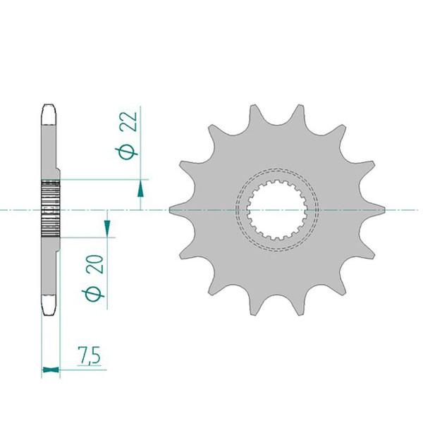 Ritzel 20210-13 #520 für CR125/CR-F250 04