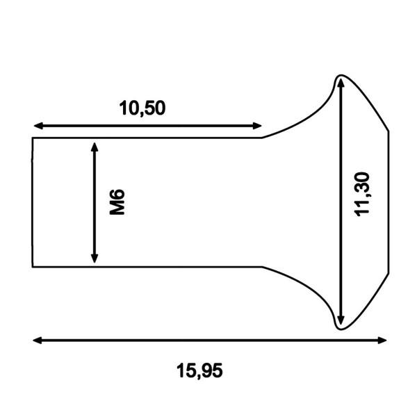 Bremsscheibenschraube M6x13 MSW104BO (Inhalt 6 Stück)