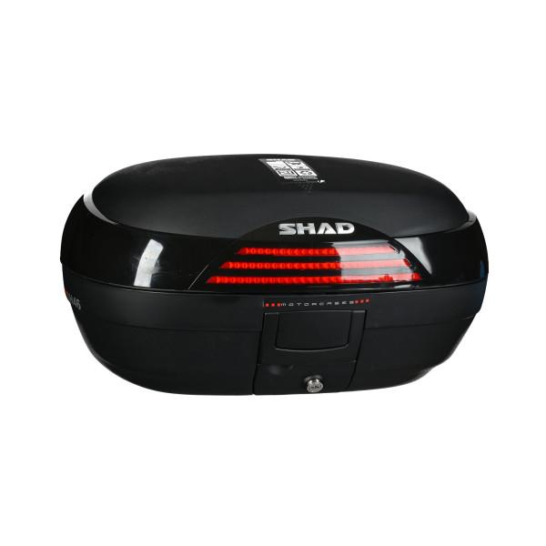 Topcase SHAD SH46 schwarz/rot inklusive Trägerplatte