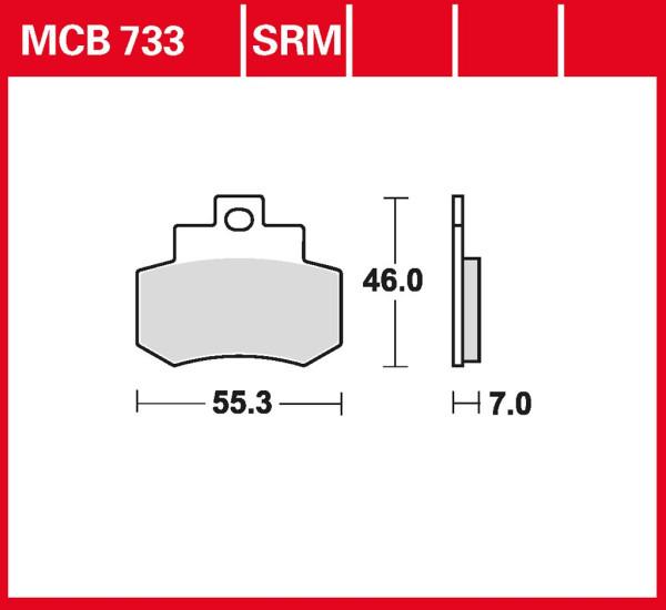 Bremsbelag TRW MCB733 organischer Allround-Bremsbelag