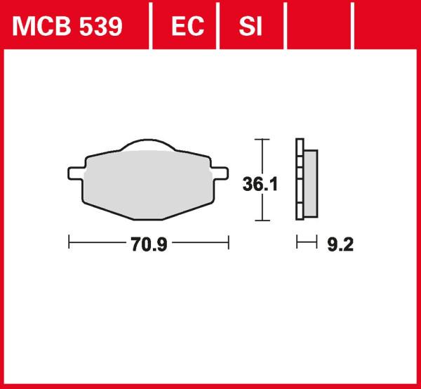Bremsbelag TRW MCB539SI Sinter Offroad Belag