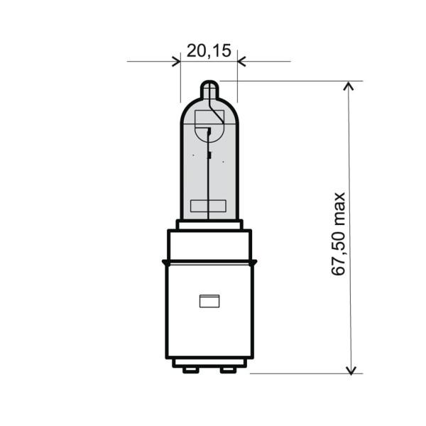 Lampe 12V 35/35W BA20d klar Halogen