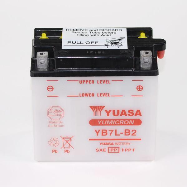 Batterie 12V 8AH YB7L-B2 Blei-Säure Yuasa ohne Säurepack