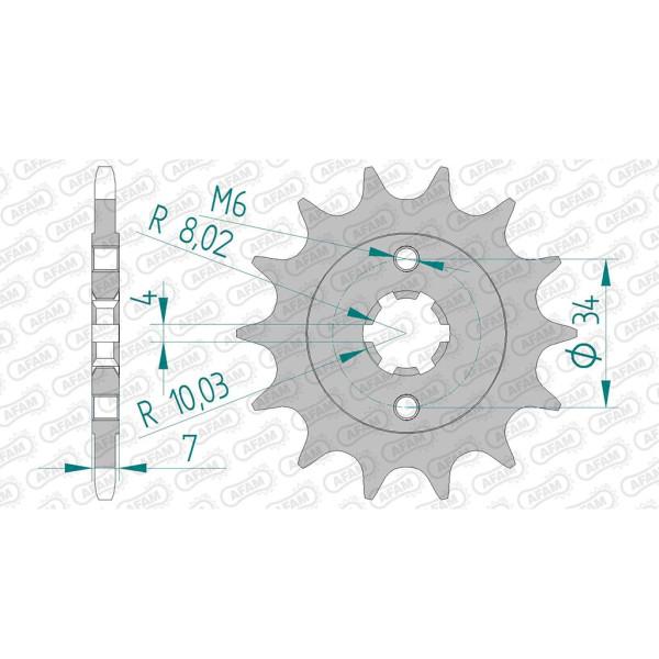 Ritzel 73203-13 #520 für KTM 125/200 Duke