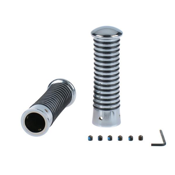 Griffe mit O-Ringen chrom/schwarz 24-26/24-26 115 mm inkl. Madenschrauben