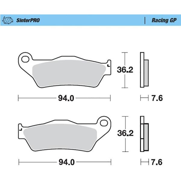 Bremsbelag Moto-Master 093012 SinterPRO Racing GP ohne ABE